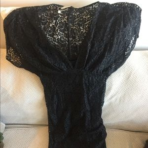 Gorg Zara black lace kimono sleeve wiggle 👗 dress